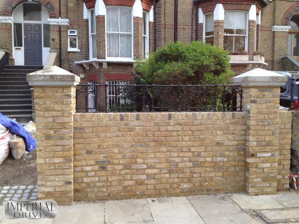 Fencing brickwork coventry 4 imperial drives ltd for House brick garden wall designs