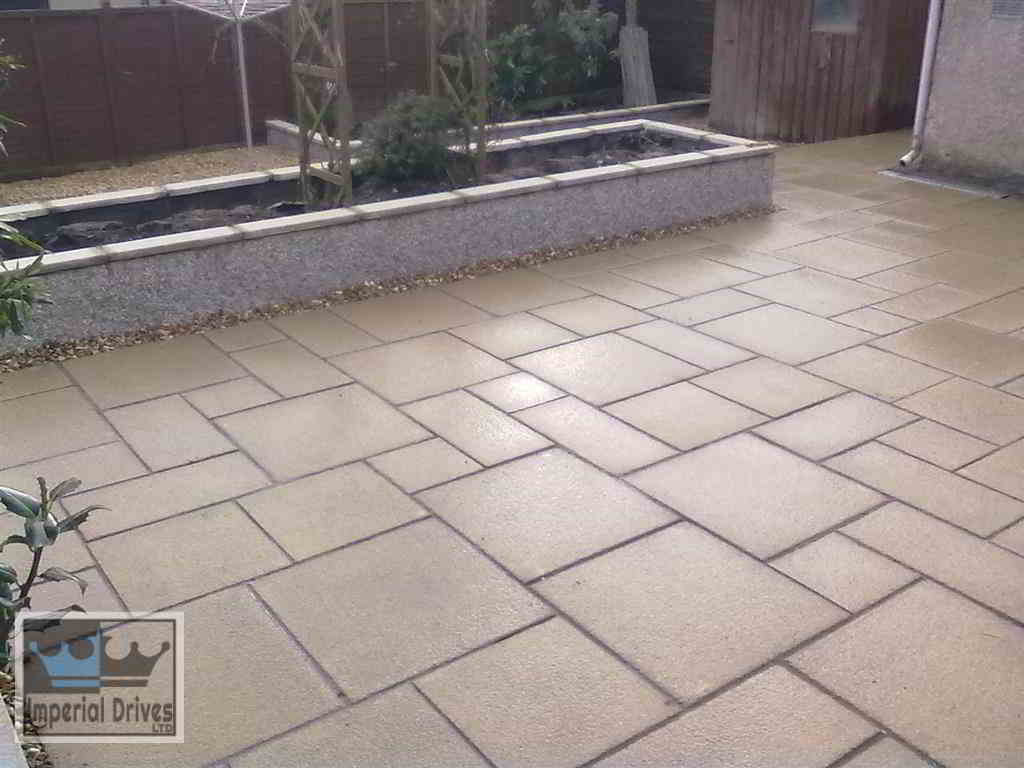 Granite Patio Laid in 4 Sizes